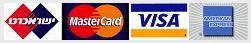 מכבדים את כל סוגי כרטיסי האשראי